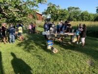 Matlagning i Pelles trädgård